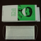 Disposable paper face mask single ply